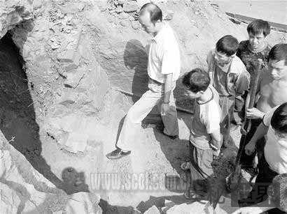 夜郎古道挖出汉代古墓群