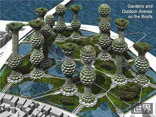 韩国打算建造史无前例的摩天蜂巢城